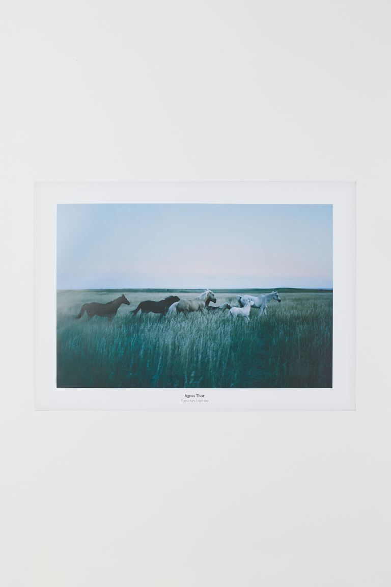 Photo-motif poster - If You Run, I Run Too - Home All | H&M IE