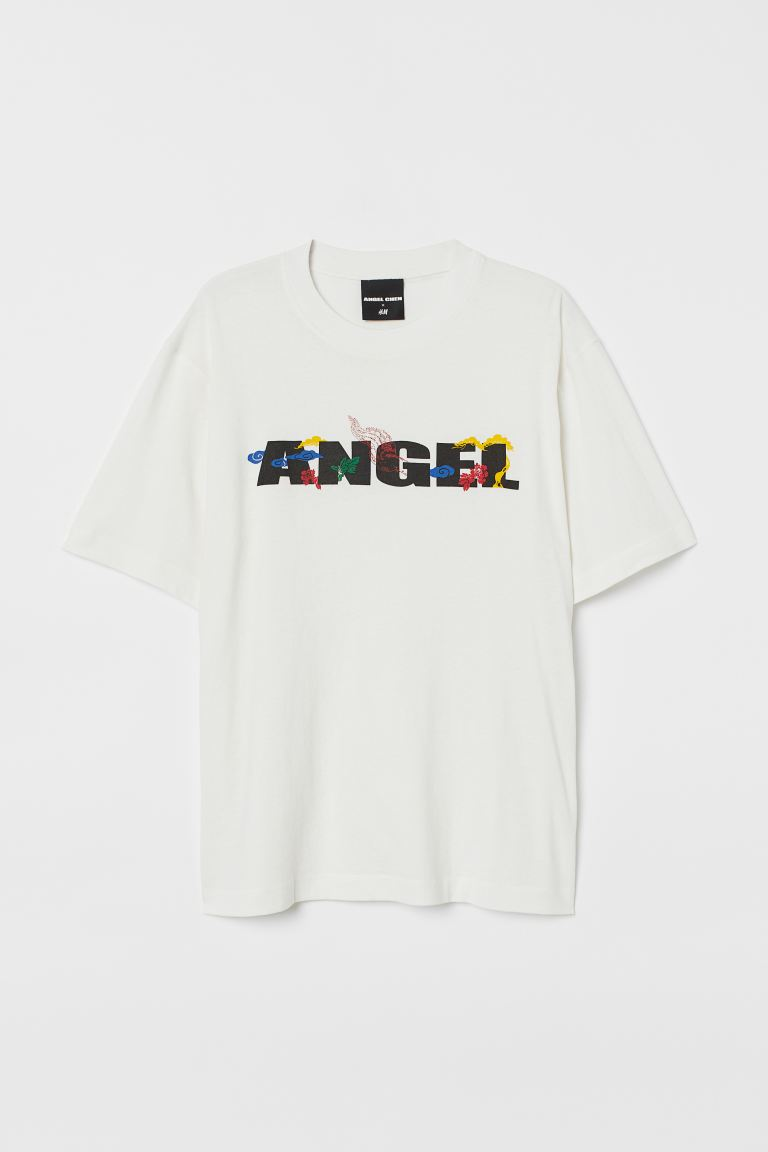 Oversized T-shirt - White/Angel - Men | H&M