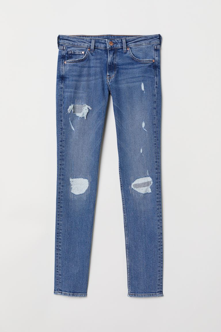 Skinny Low Jeans - Licht denimblauw/trashed - DAMES | H&M BE