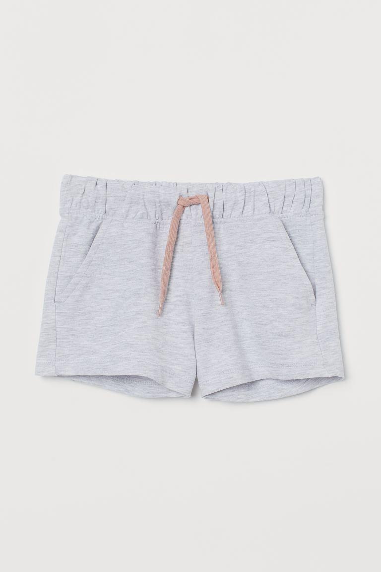 Cotton sweatshirt shorts - Light grey marl - Kids   H&M GB