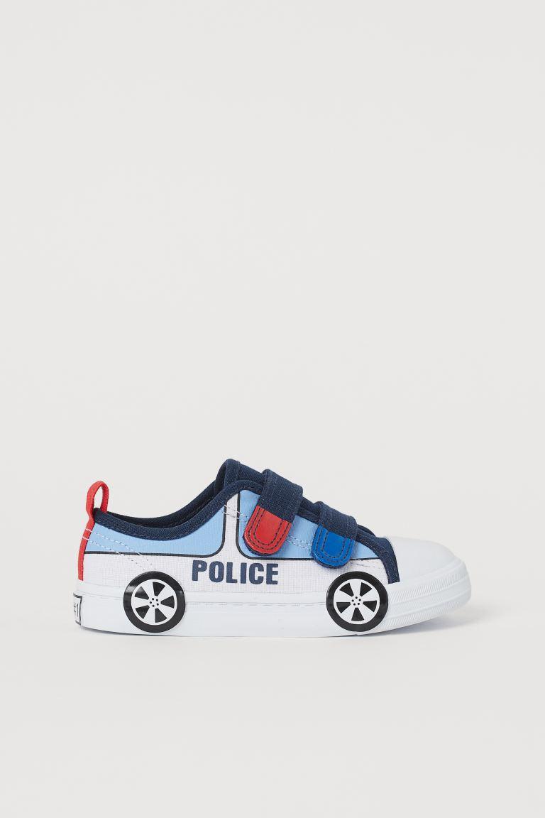 Canvas trainers - Dark blue/Police car - Kids | H&M GB