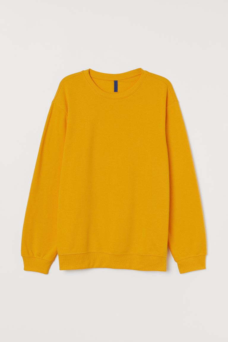 Sweatshirt - Yellow - Men | H&M