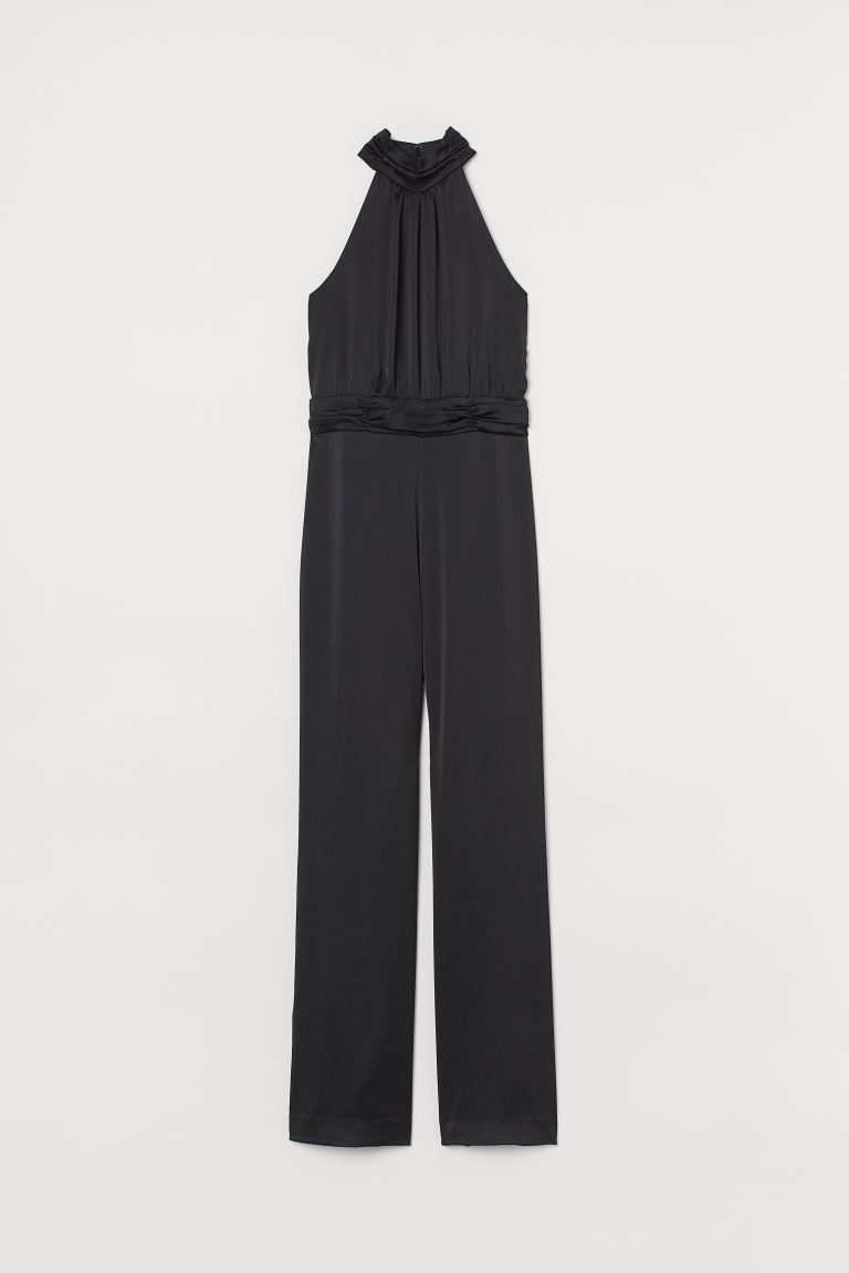 Satin jumpsuit - Black - Ladies | H&M IE