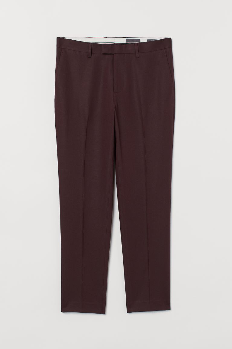 Anzughose Slim Fit - Weinrot - Men | H&M AT