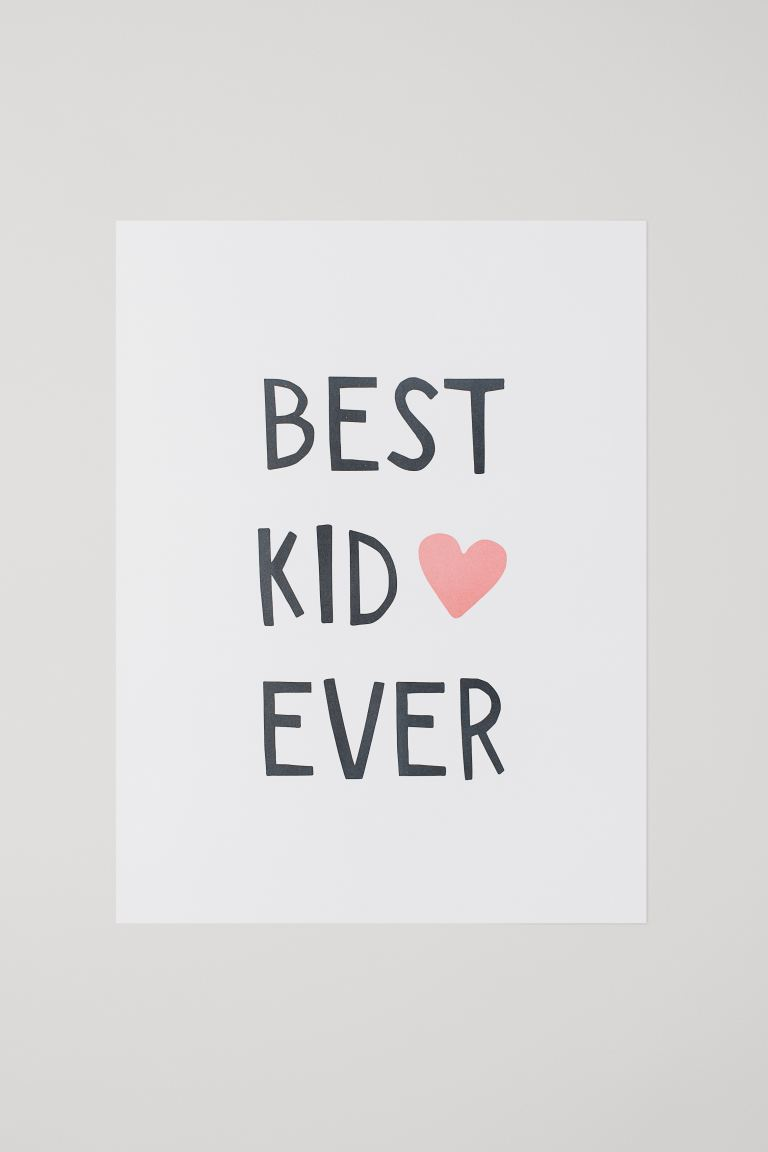 Poster - Beyaz/Best Kid Ever - Home All | H&M TR
