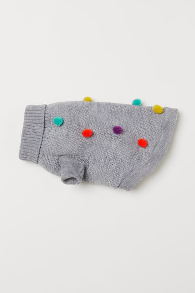 Knitted dog jumper - Light grey marl - Ladies | H&M GB