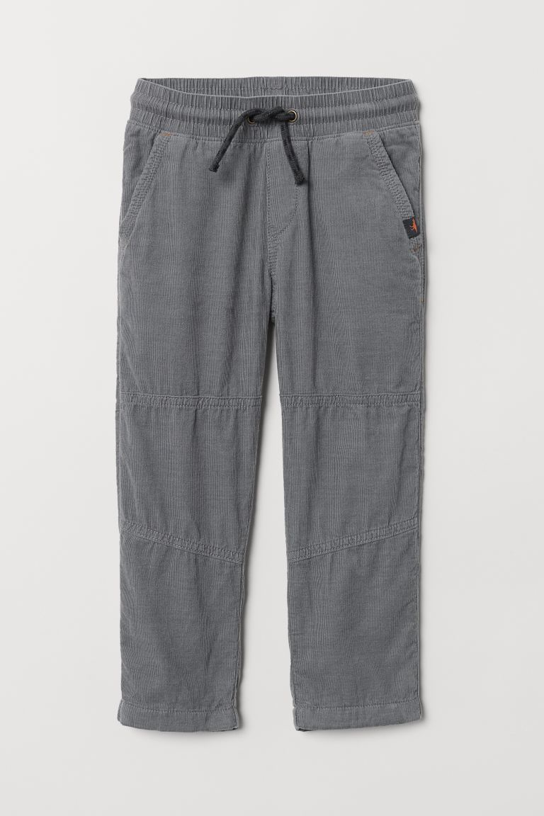 Jersey-lined trousers - Grey - Kids | H&M