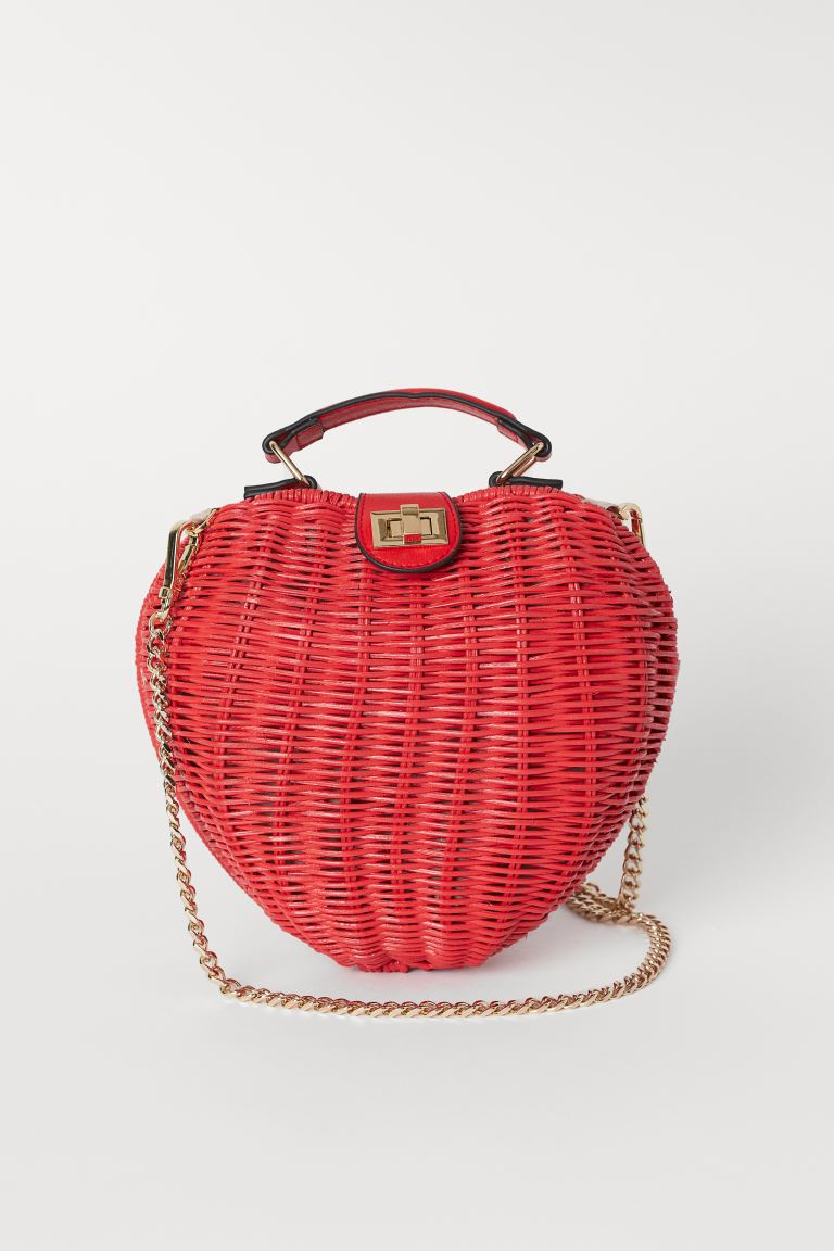 Heart-shaped Shoulder Bag - Red/heart - Ladies | H&M CA