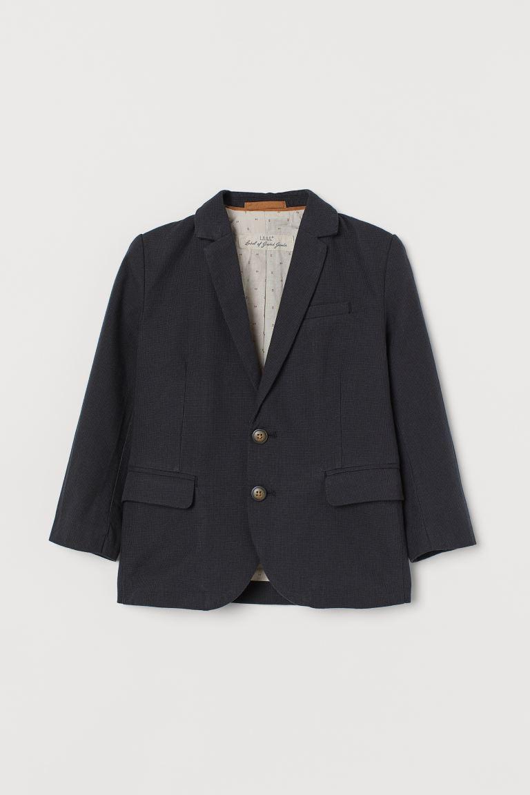 Classic jacket - Dark grey/Black checked -    H&M GB