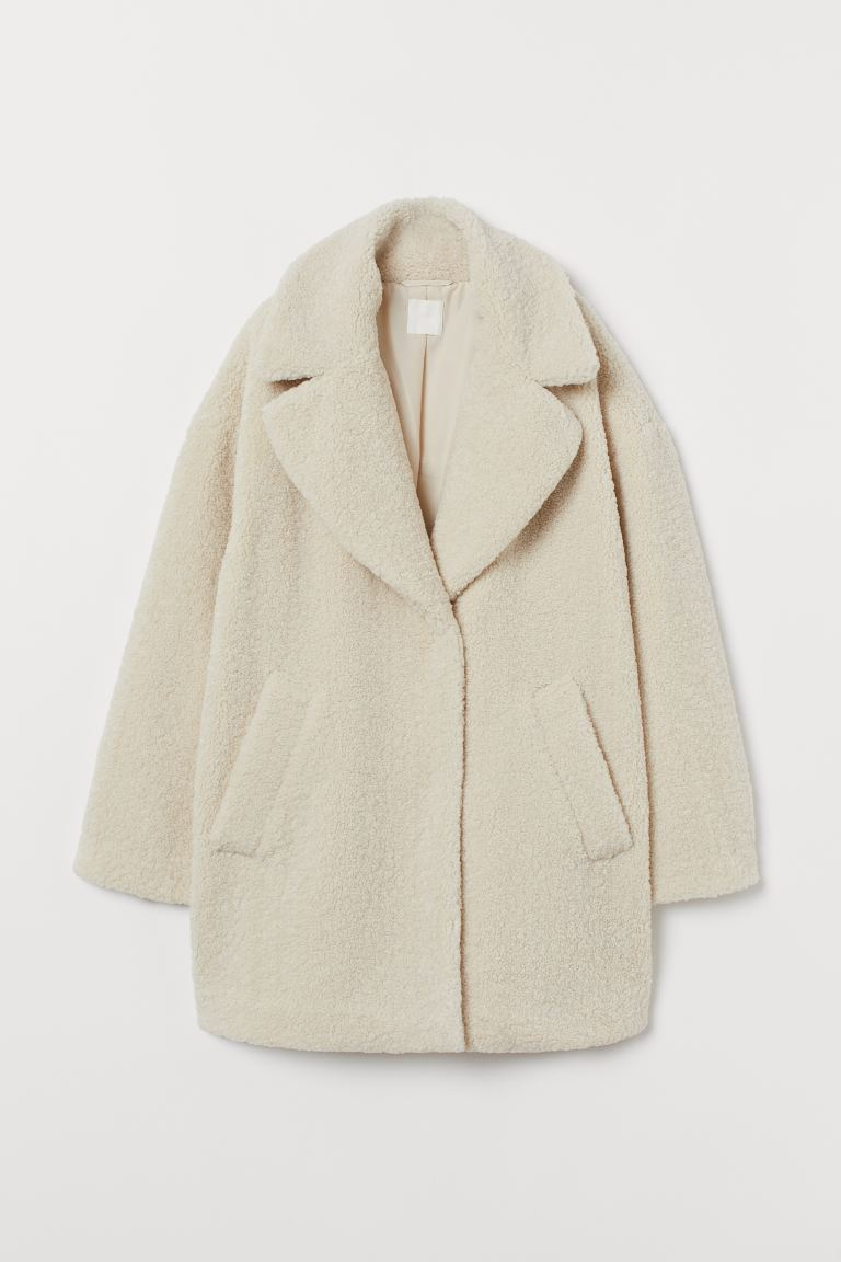 release info on look good shoes sale limited guantity Short pile coat - Cream - Ladies | H&M IE