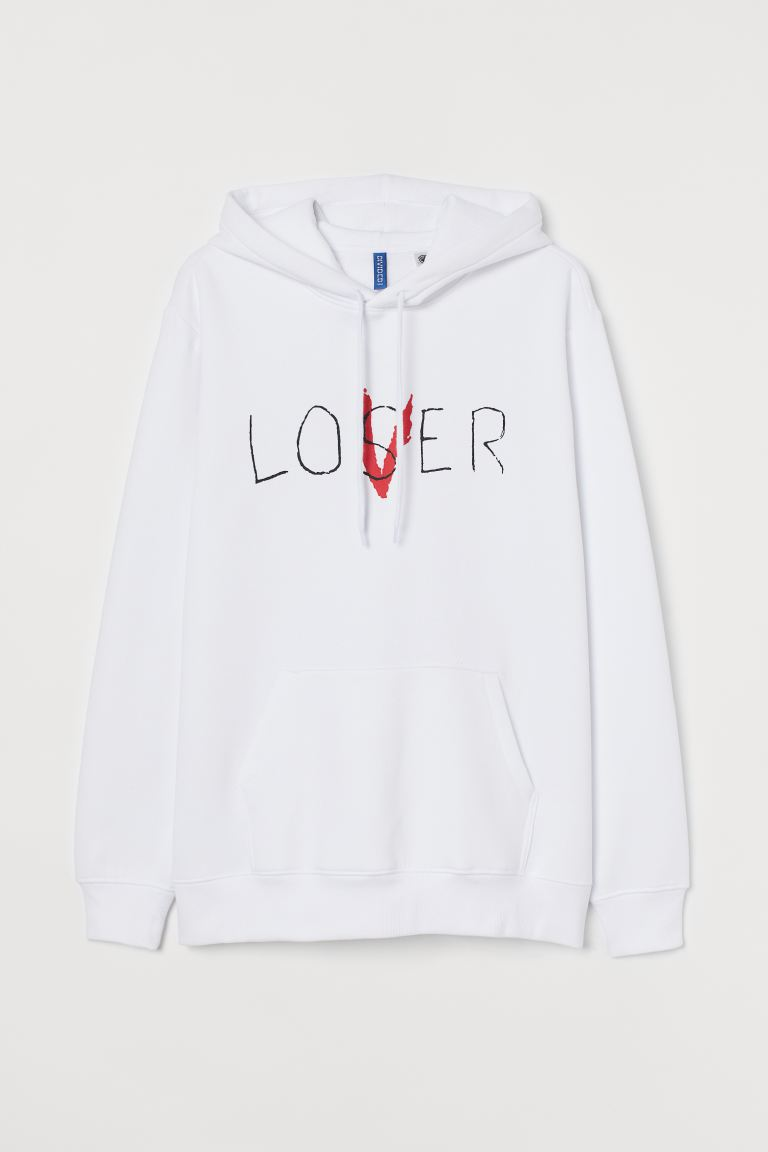 Hooded top - White/It - Men | H&M