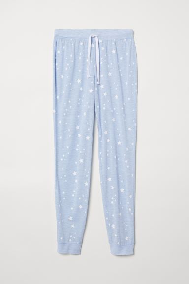 Pyjama bottoms - Light blue/Stars - Ladies | H&M IN