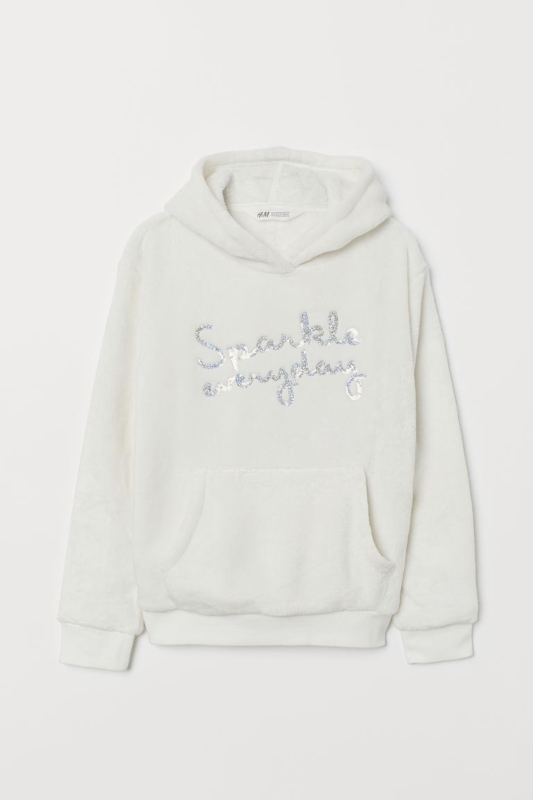 Pile hooded top - Natural white/Unicorn - Kids   H&M GB