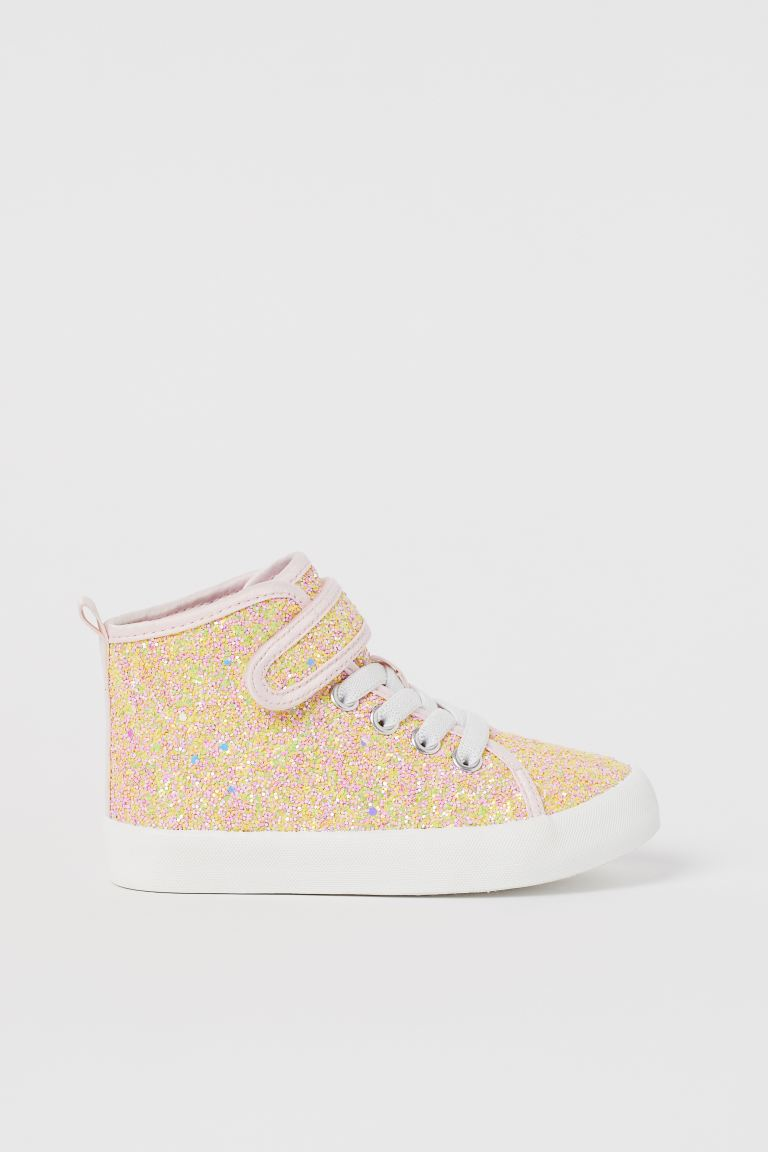 Hi-top trainers - Yellow/Glittery - Kids | H&M