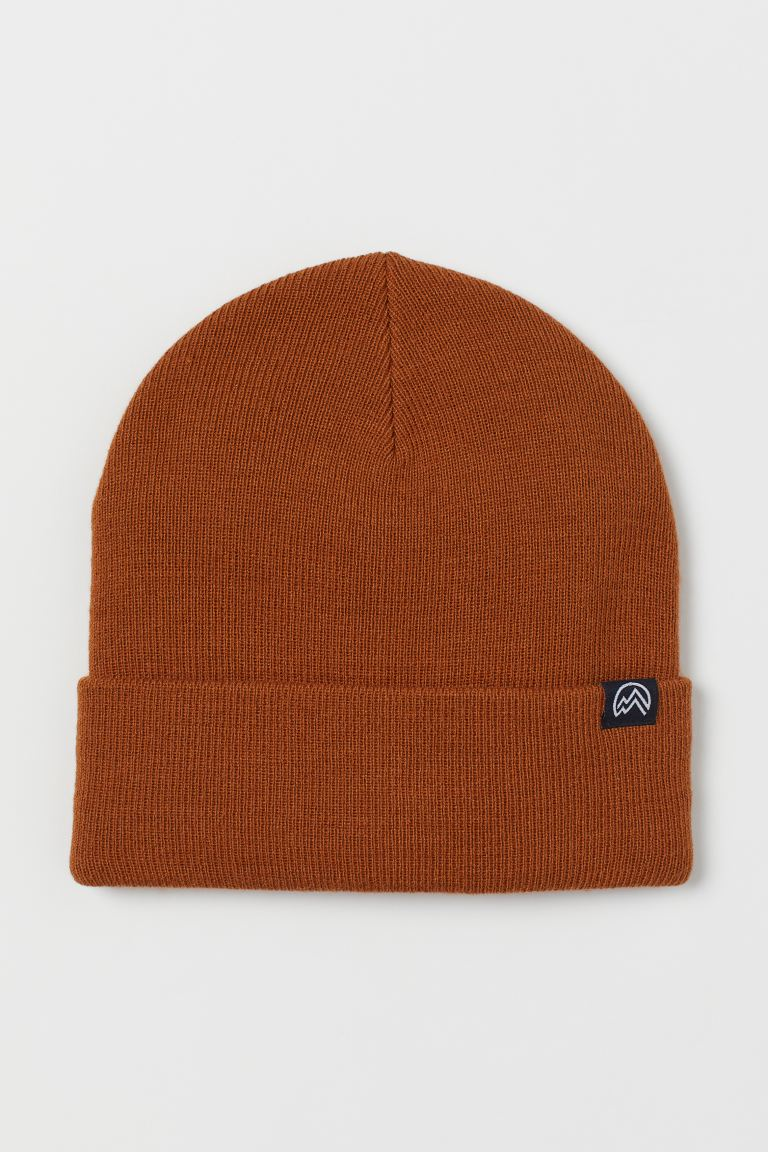 Knitted hat - Brown - Kids | H&M GB