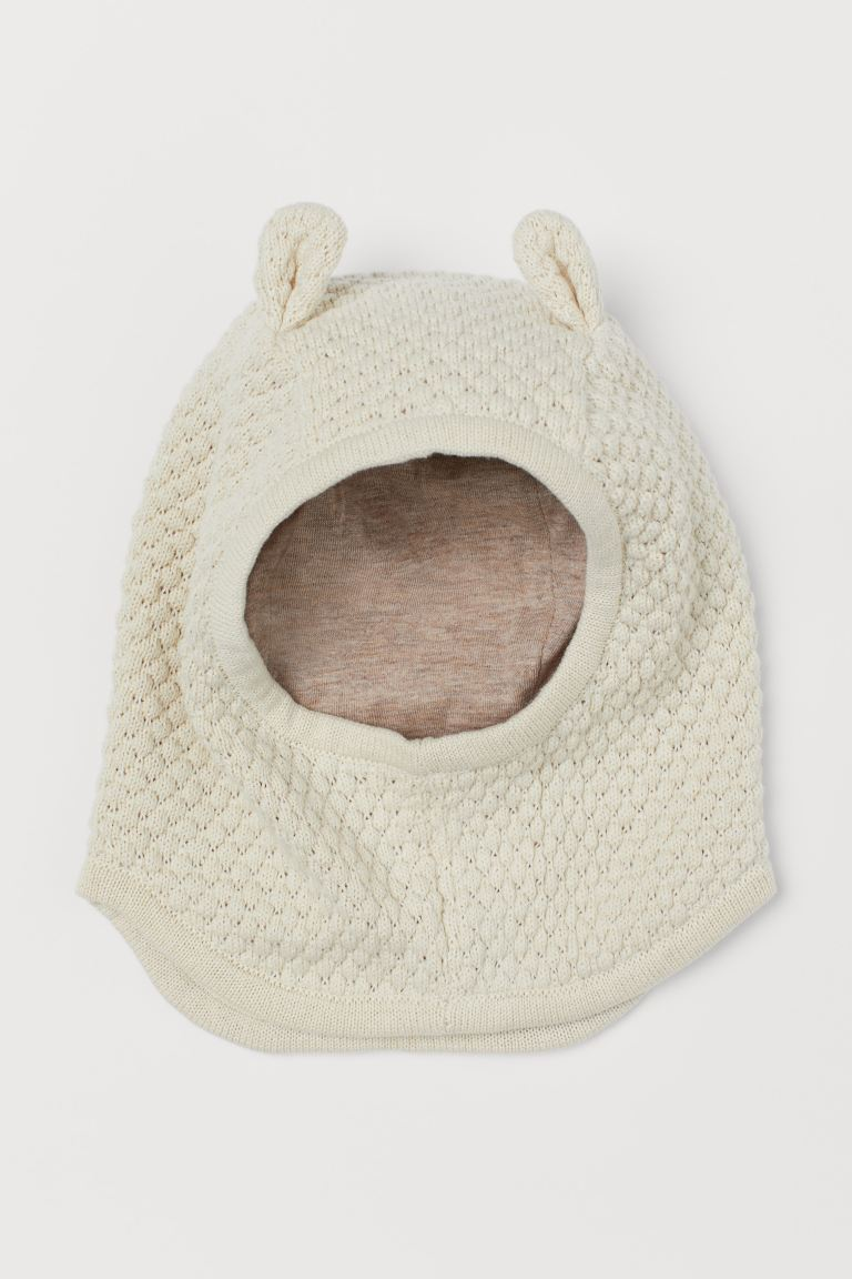 Cotton balaclava - Natural white - Kids | H&M