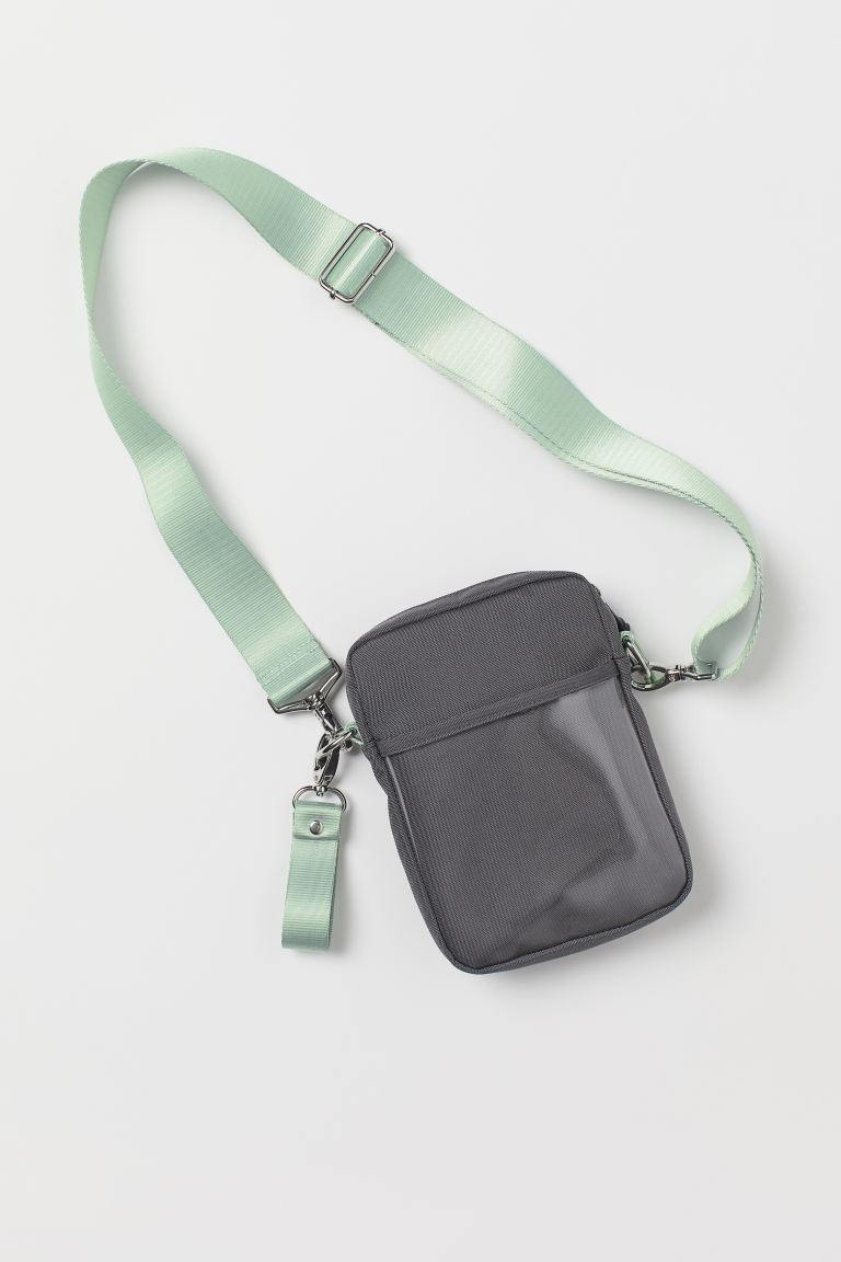 Shoulder bag - Grey/Light green - Men | H&M GB
