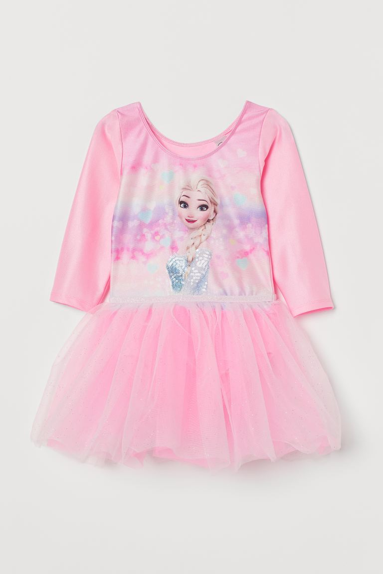 Leotard with a tulle skirt - Pink/Frozen - Kids | H&M