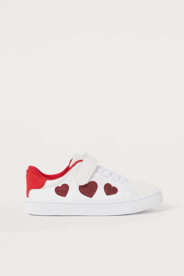 Trainers - White/Hearts - Kids   H&M GB