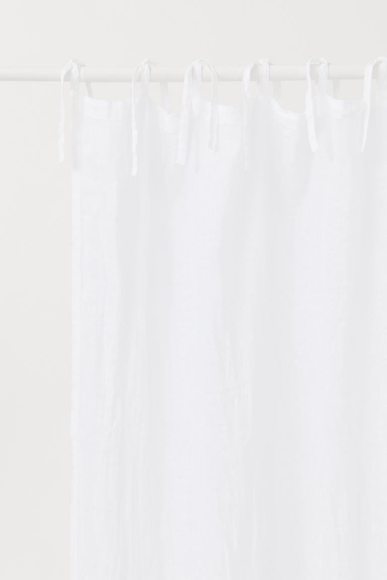 2-pack gardinlängd i linne - Vit - Home All | H&M SE