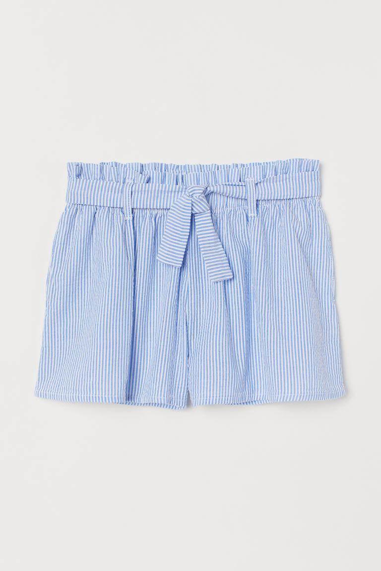 Tie-belt shorts