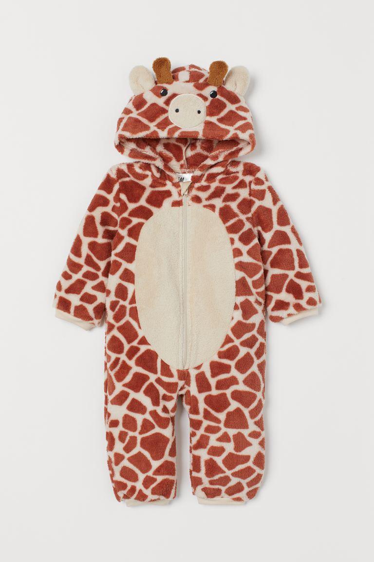 Velour fancy dress costume - Rust brown/Giraffe -    H&M GB
