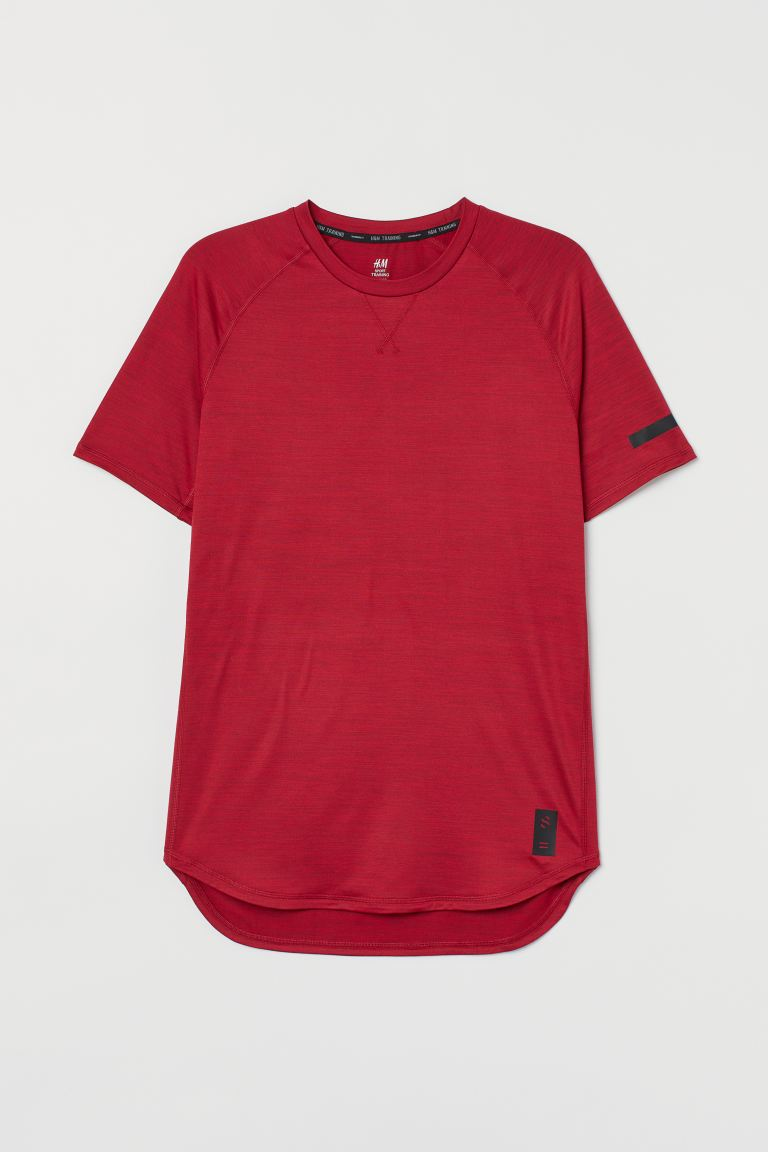 Sports top Loose Fit - Red marl - Men | H&M