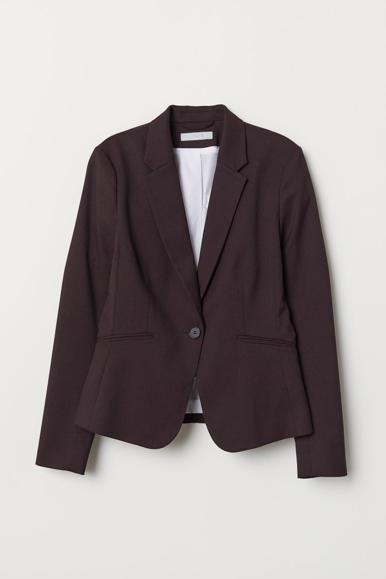 Fitted jacket - Burgundy - Ladies | H&M IN