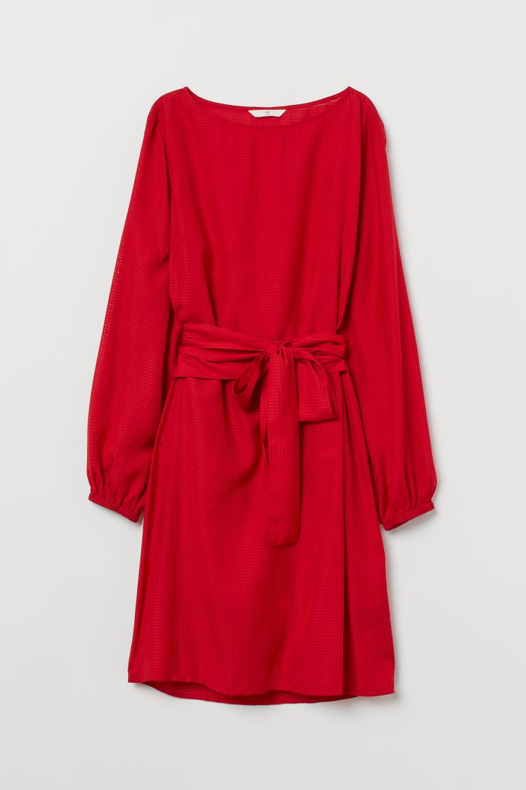 Tie-belt dress - Red - Ladies | H&M IE