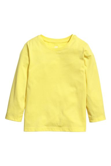 Jersey top - Yellow - Kids | H&M IN