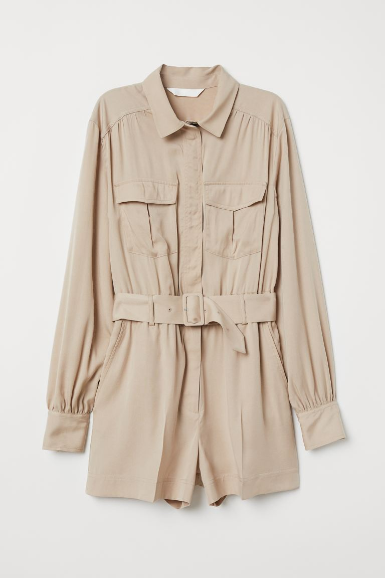 Cargoplaysuit - Beige - DAMES | H&M BE