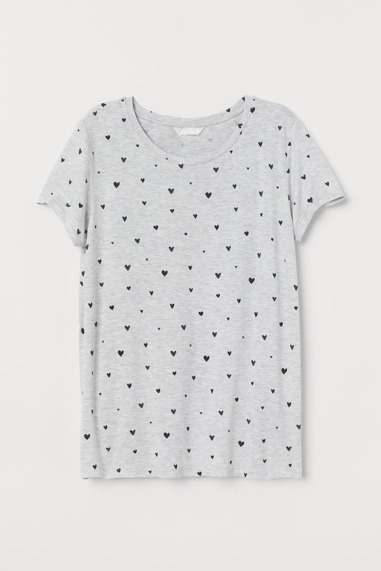 MAMA Stillshirt - Hellgraumeliert/Herzen - Ladies | H&M AT
