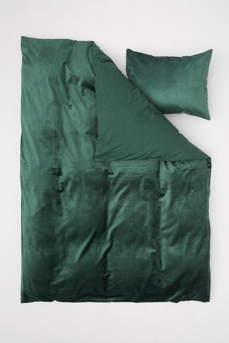 bettwäsche dunkelgrün