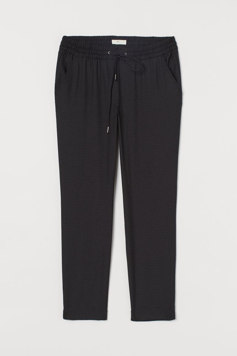 Pull-on Pants - Brown/black checked -  | H&M US