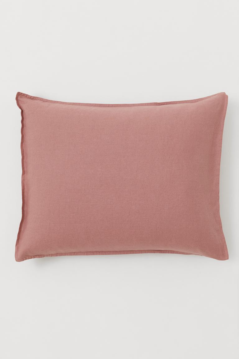 Washed Linen Pillowcase - Dusty rose - Home All | H&M US