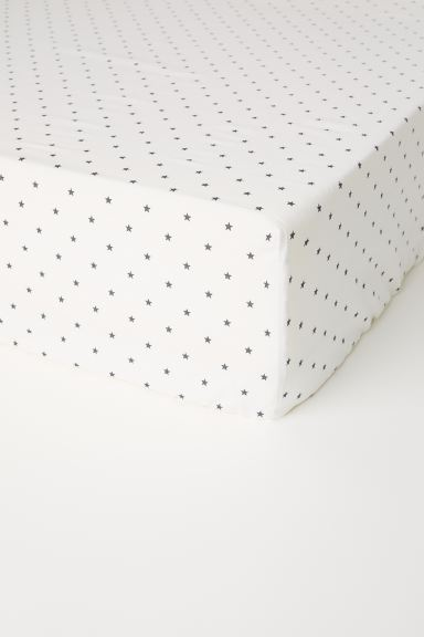 Lenzuolo con angoli - Bianco/stelle - HOME | H&M IT