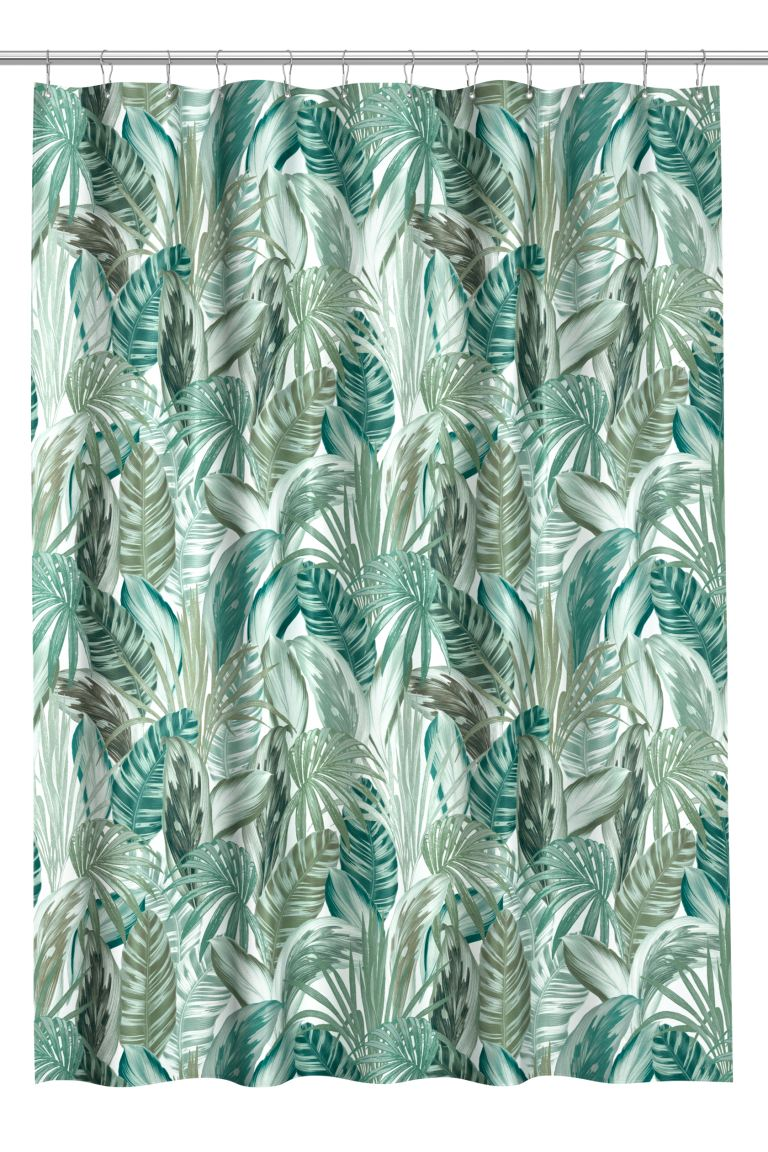 Shower Curtain - Green/leaf-patterned - Home All | H&M CA