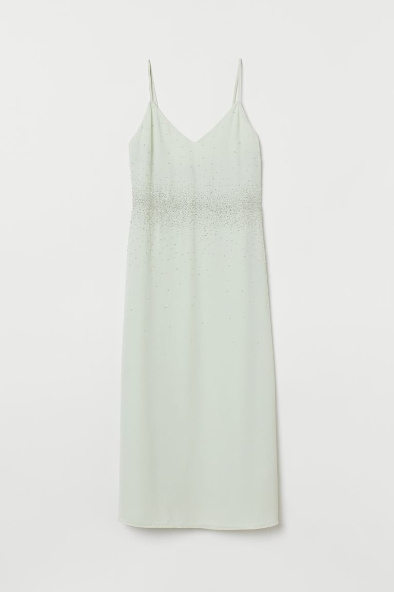 Bead-embroidered Dress - Mint green - Ladies | H&M CA