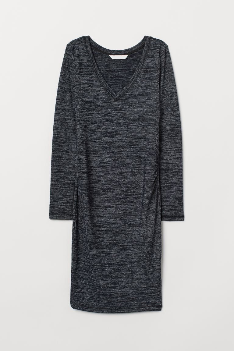 MAMA Jersey Dress - Dark blue melange - Ladies | H&M US