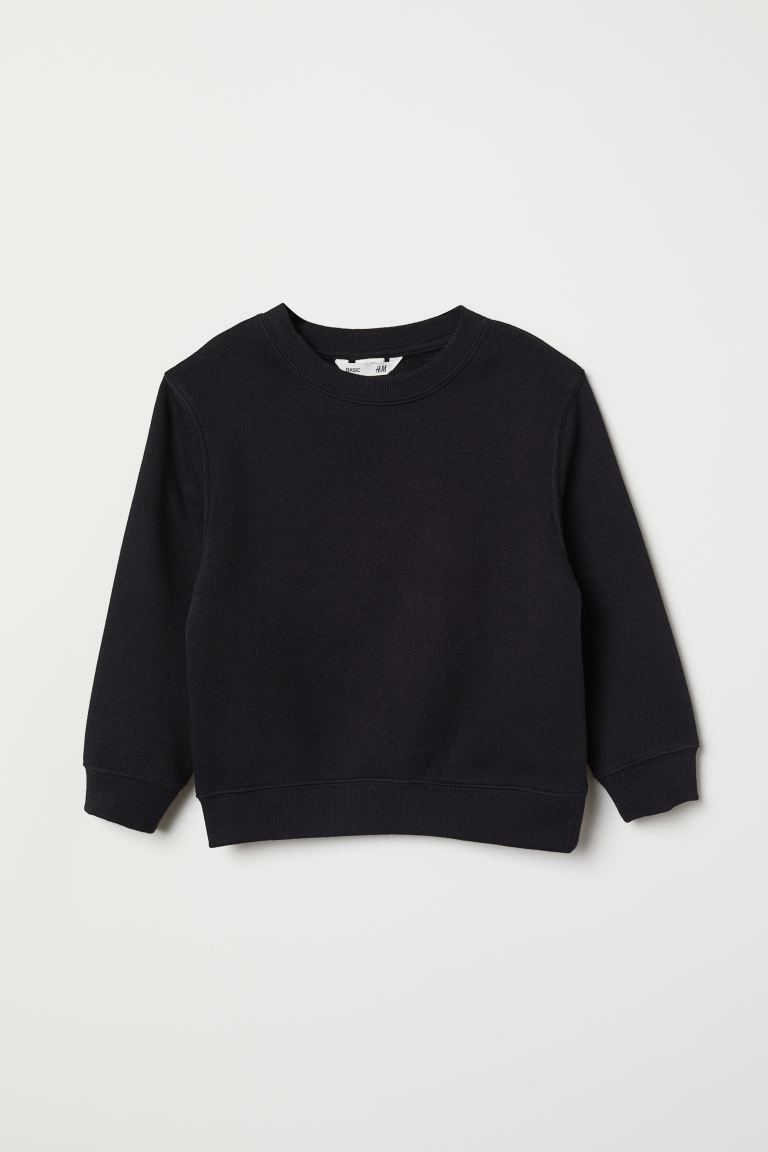 Sweatshirt - Black - Kids | H&M CA