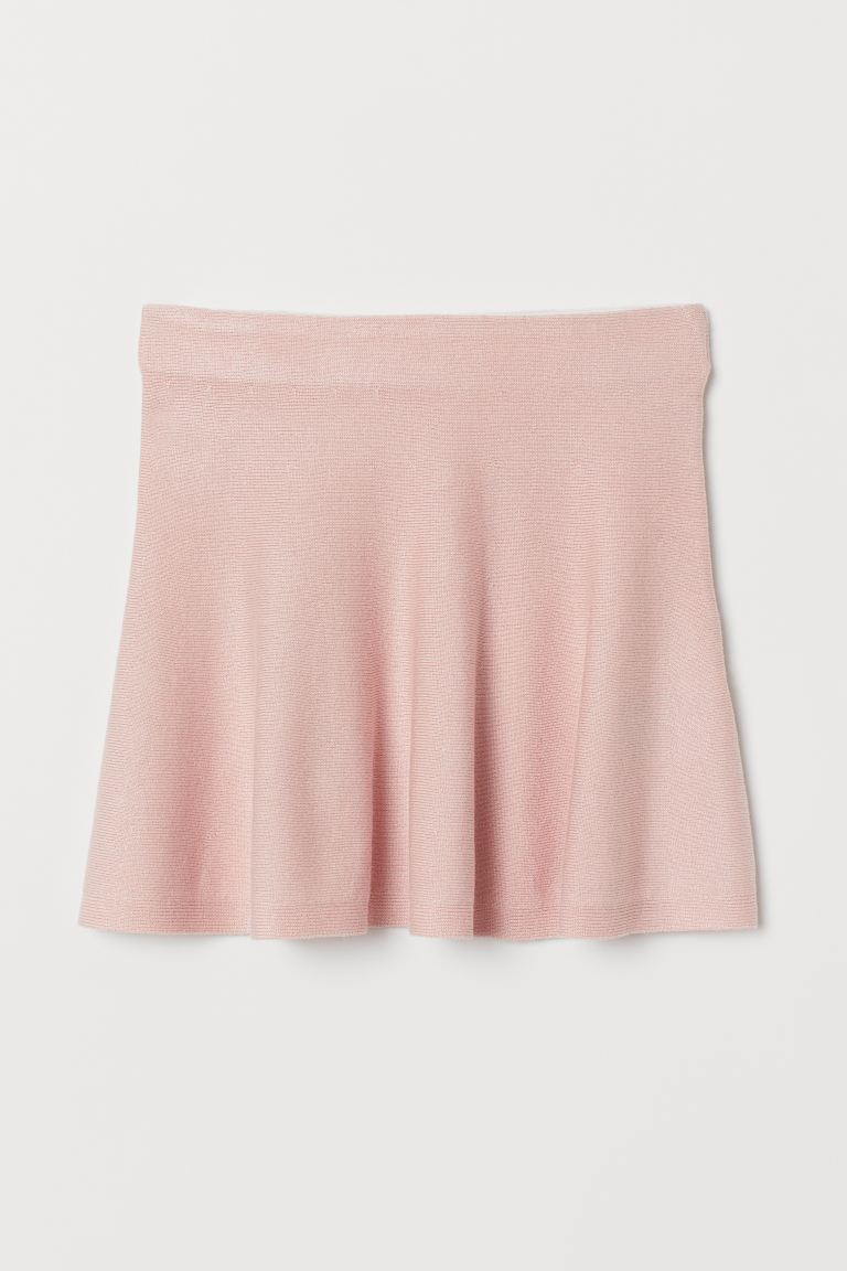 Fine-knit skirt - Powder pink - Kids | H&M GB