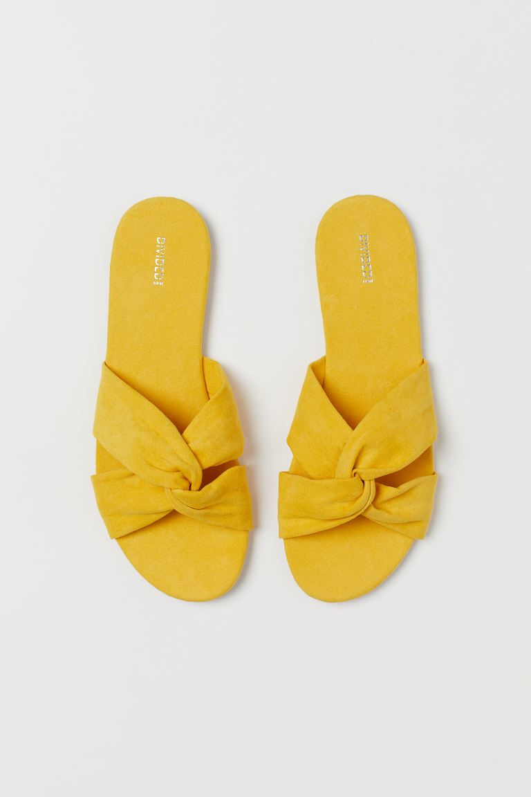 Slides - Yellow - Ladies | H&M US