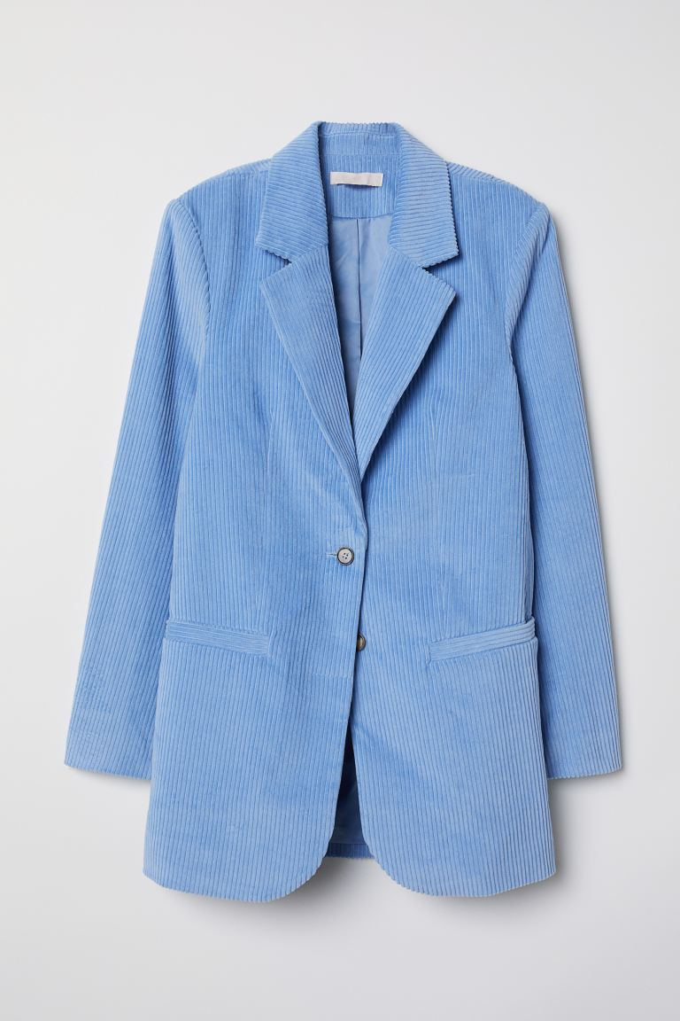 Giacca in velluto a coste - Azzurro - DONNA | H&M IT