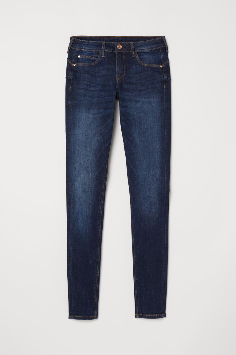 Jegginsy Push up Low - Niebieski denim - ONA | H&M PL