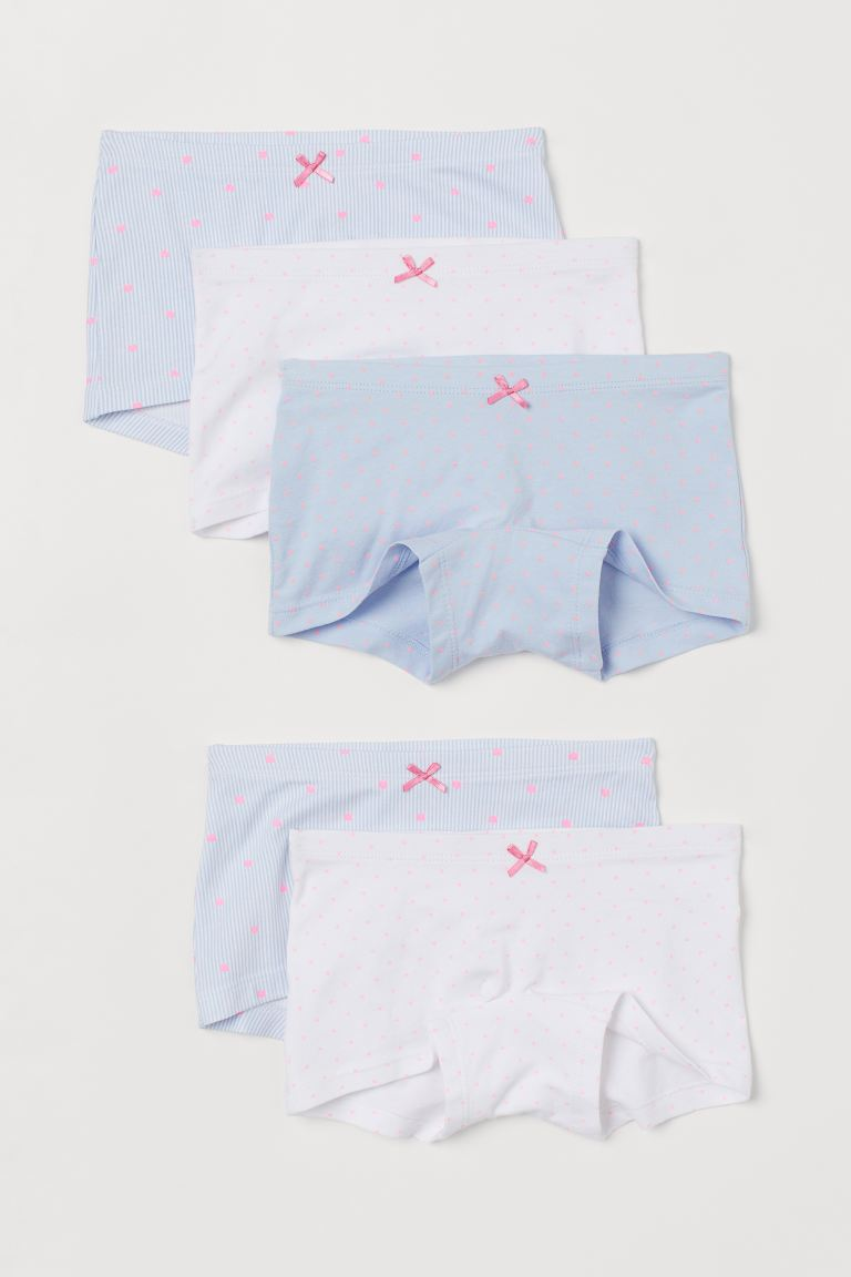5-pack boxer briefs - Light blue/Hearts -  | H&M