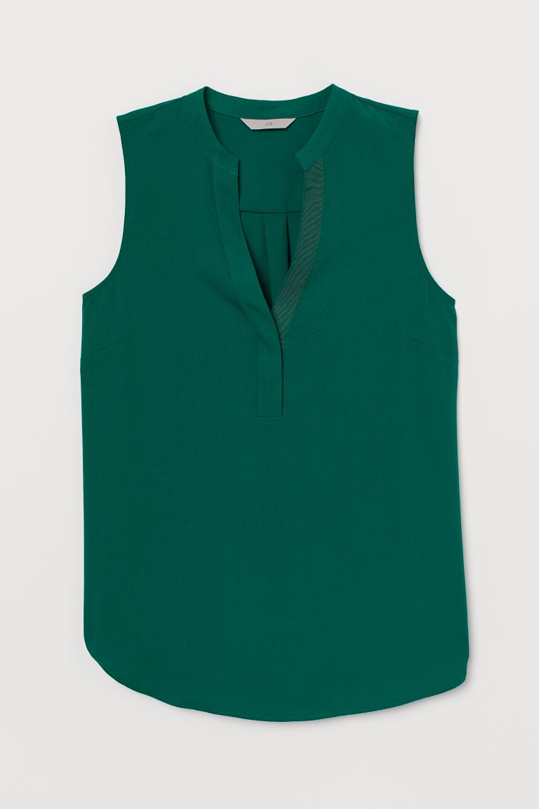 V-neck blouse - Dark green - Ladies | H&M IE