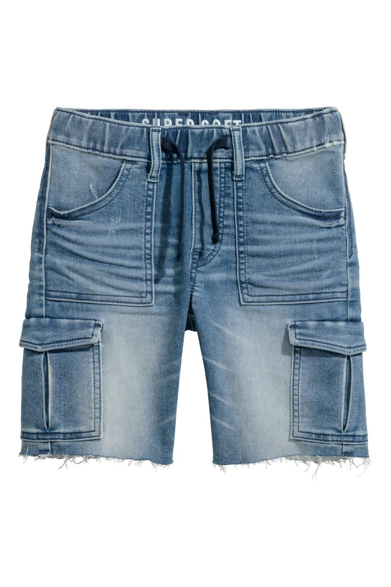 Super Soft denim shorts - Denim blue - Kids | H&M