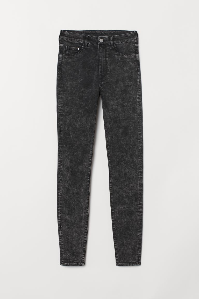 Super Skinny High Jeggings - Black washed out - Ladies | H&M IE