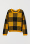 Yellow/black plaid