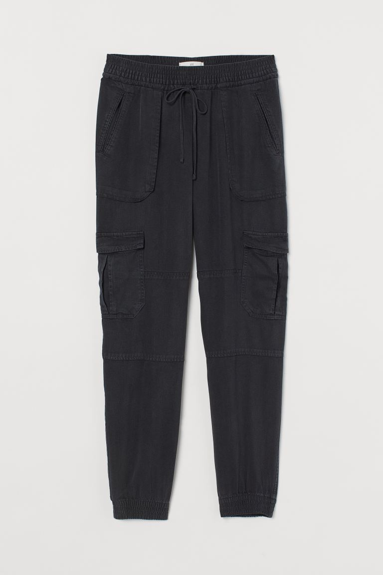 Lyocell Utility Joggers - Dark gray - Ladies | H&M US